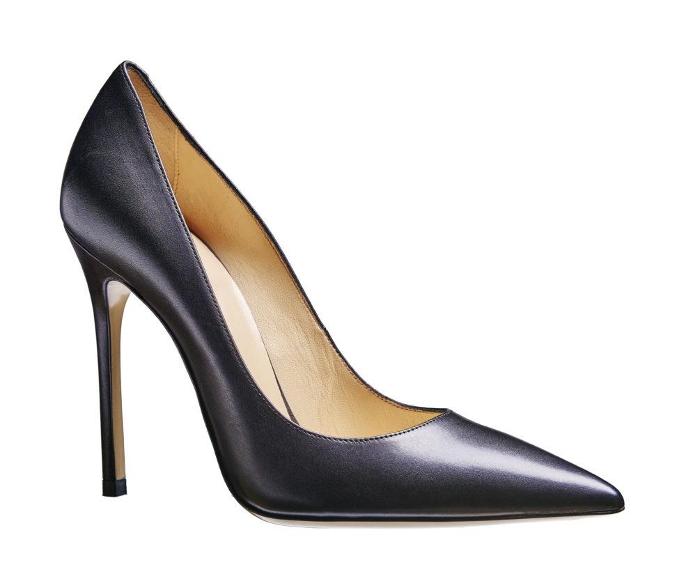 high heel 12 cm glattleder schwarz soft heels online. Black Bedroom Furniture Sets. Home Design Ideas