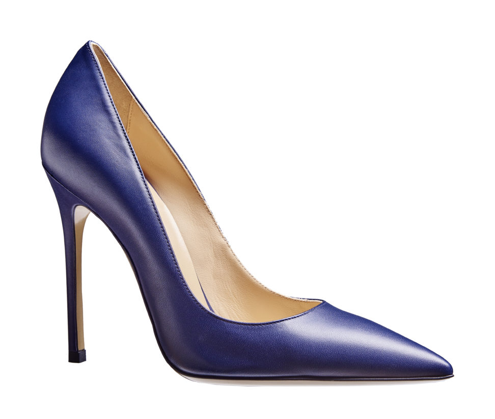 High Heel 12 cm - smooth leather - blue