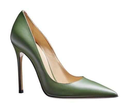 9408c0837f2 High Heel 12 cm - Glattleder - grün